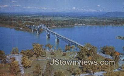 Lake Champlain - Chimney Point, Vermont VT Postcard