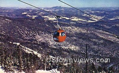 New European Gondola Lift - Warren, Vermont VT Postcard