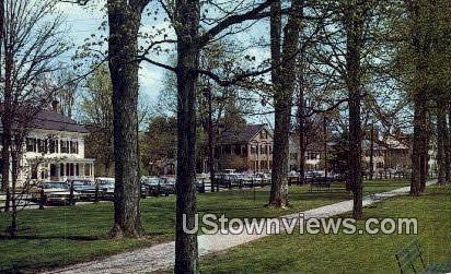 The Green - Woodstock, Vermont VT Postcard