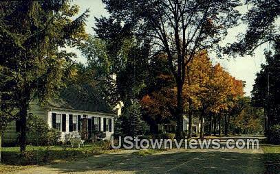 Pleasant Street - Woodstock, Vermont VT Postcard