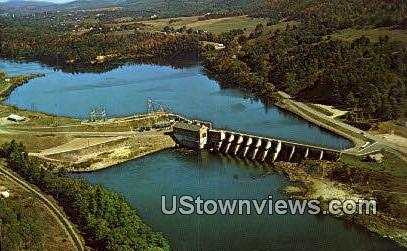 Wilder Dam - Vermont VT Postcard