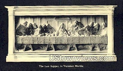 The Last Supper, Vermont Marble - Proctor Postcard