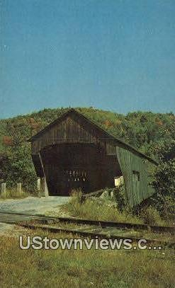 Railroad Covered Bridge - Bartonsville, Vermont VT Postcard