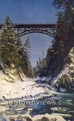 Quechee Gorge - Windsor County, Vermont VT Postcard