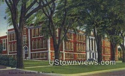Bellows Free Academy - St Albans, Vermont VT Postcard