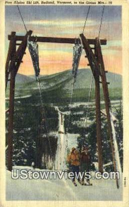 Pico Alpine Ski Lift - Rutland, Vermont VT Postcard