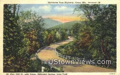 Sherburn Pass Highway - Green Mountains, Vermont VT Postcard