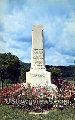 Pittsford Memorial Monument - Brandon, Vermont VT Postcard