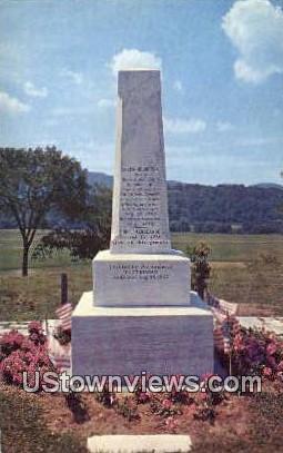 Caleb Houghton Monument - Pittsford, Vermont VT Postcard