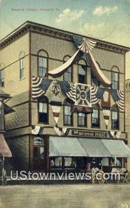 Masonic Temple - Newport, Vermont VT Postcard