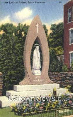 Our Lady of Fatima - Barre, Vermont VT Postcard