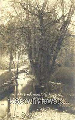 Real Photo - The Brook - Moretown, Vermont VT Postcard