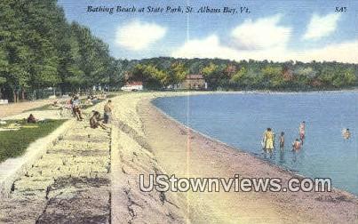 State Park - St Albans Bay, Vermont VT Postcard