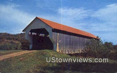 Covered Bridge - Cambridge, Vermont VT Postcard