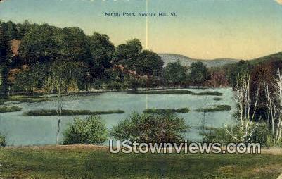 Kenney Pond - Newfane Hill, Vermont VT Postcard