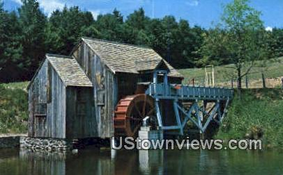 Old Mill & Water Wheel - Guildhall, Vermont VT Postcard
