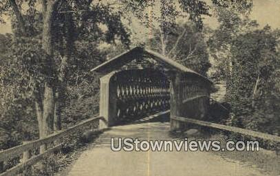 Green Mountain, Old Covered Bridge - East Arlington, Vermont VT Postcard