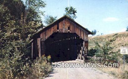 Covered Bridge - Hartland, Vermont VT Postcard
