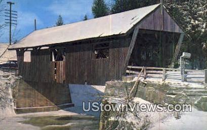 Three Old Covered Bridges, Lamoille Co - Johnson, Vermont VT Postcard