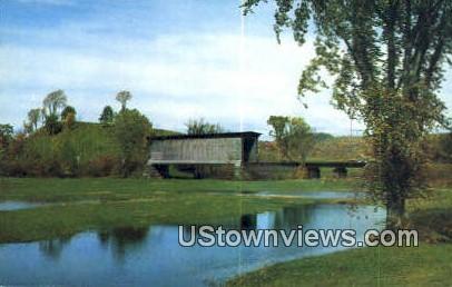 Covered Railroad Bridge - Lamoille River, Vermont VT Postcard