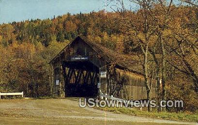 Columbia Bridge - Lemington, Vermont VT Postcard