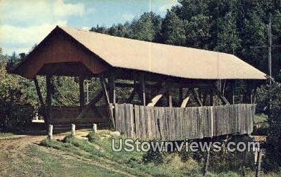 Old Covered Bridge - Lyndonville, Vermont VT Postcard