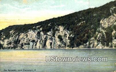 The Palisades - Lake Champlain, Vermont VT Postcard