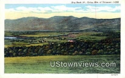 Hog Back Mtn - Green Mountains, Vermont VT Postcard