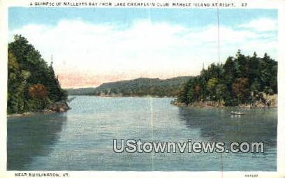Malletts Bay, Lake Champlain - Burlington, Vermont VT Postcard