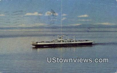 MV Valcour, Ferry Crossing - Shelburne Harbor, Vermont VT Postcard