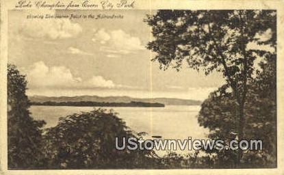 Queen City Park - Lake Champlain, Vermont VT Postcard