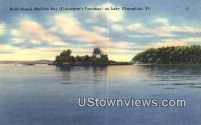 Rock Island - Lake Champlain, Vermont VT Postcard