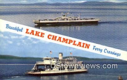 Ferry Crossing - Lake Champlain, Vermont VT Postcard