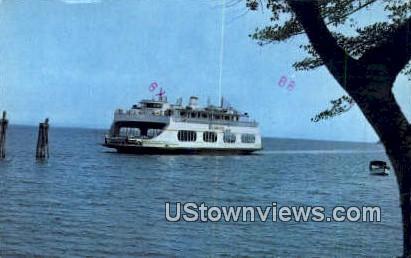 MV Champlain, Ferry Crossing - Lake Champlain, Vermont VT Postcard