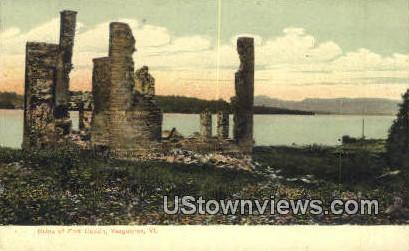 Ruins of Fort Cassin - Vergennes, Vermont VT Postcard