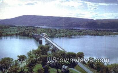 Lake Champlain Toll Bridge - Chimney Point, Vermont VT Postcard