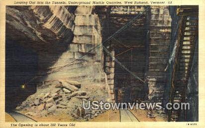 Underground Marble Quarries - West Rutland, Vermont VT Postcard