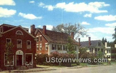 Elm Tree Pass & the Historical Society - Woodstock, Vermont VT Postcard