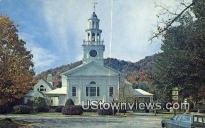 First Congregational Church - Woodstock, Vermont VT Postcard
