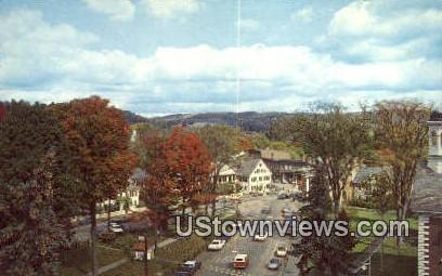 The Center - Woodstock, Vermont VT Postcard