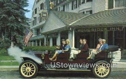 Stanley Steamer, Woodstock Inn - Vermont VT Postcard