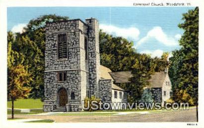 Episcopal Church - Woodstock, Vermont VT Postcard