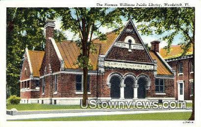 Norman Williams Public Library - Woodstock, Vermont VT Postcard