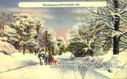 Poultney, VT     ;     Poultney, Vermont Postcard