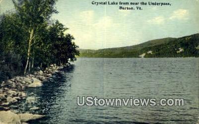 Crystal Lake - Barton, Vermont VT Postcard