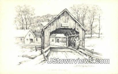 Old Newfane Bridge - Vermont VT Postcard