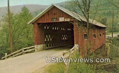 Northfield Falls Covered Bridge - Vermont VT Postcard