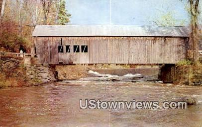 Covered Bridge - Tumbridge, Vermont VT Postcard