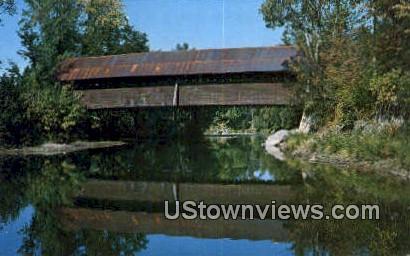 Kissing Bridge - Troy, Vermont VT Postcard