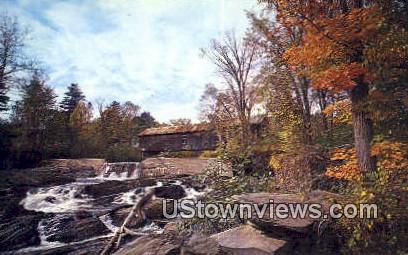 Old Covered Bridge - Thetford Center, Vermont VT Postcard